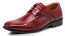 Edmond Men's Fashion Oxfords Lace Up Tuxedo Dress Shoes with
