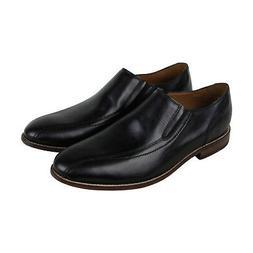 Bostonian Ensboro Step Mens Black Leather Casual Dress Loafe