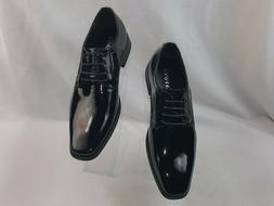 "Faranzi ""F4692"" Men's Lace-Up Glossy Formal  Dress Shoes, Bl"
