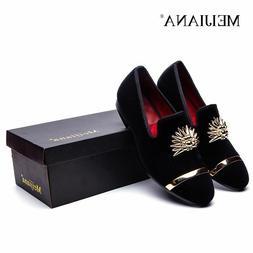 Fashion Gold Top And Metal Toe Male Velvet Italian Dress Sho