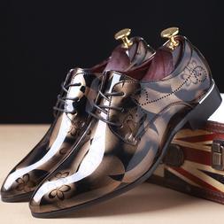 Fashion Men Dress Shoes Wedding Shoes Formal Leather Shoes O