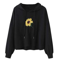 Londony Fashion Sweatshirts in Women Daisy Print Hoodie Swea