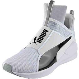 PUMA Women's Fierce Core Cross-Trainer Shoe, White Black, 8
