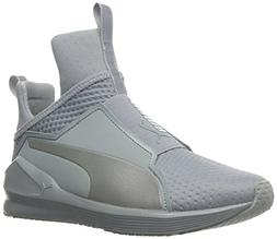 PUMA Women's Fierce Quilted Cross-Trainer Shoe, Quarry Silve