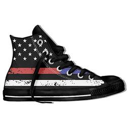 BEYOUR and Firefighter Thin Blue Red Line Flag High Top Clas