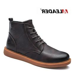 <font><b>ALEADER</b></font> Autumn New Fashion Boots Leather