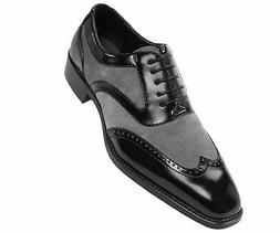 Formal Tuxedo Oxford Mens Dress Shoe, Two-Tone Smooth Suede