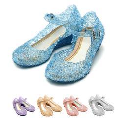 Frozen Princess Elsa Cosplay Dress Up Party Sandals Crystal