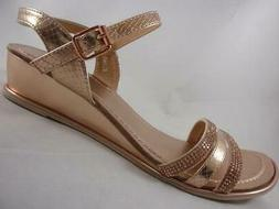 G.C. Shoes Elina Rose Gold Women's Ankle Strap Sandals Rhine