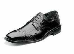 Stacy Adams GARIBALDI Mens Black 24985-001 Leather Lace Up D