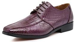 Gator3N Men's Alligator Crocodile Print Oxfords Fashion Lace