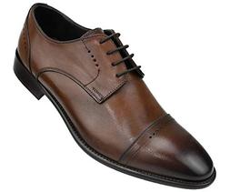 Asher Green Genuine Italian Leather Men's Dress Shoes with P