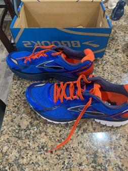 Brooks Ghost 8 Running Shoes Mens Size 9M, Dress Blue/Spicy