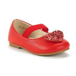 Dream Pairs Girls Kids Mary Jane Shoes Rhinestones Slip On B