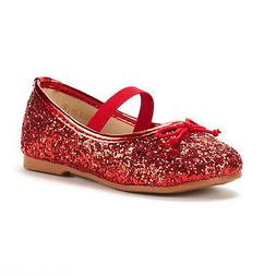 DREAM PAIRS Girls Glitter Kids Mary Jane Ballerina Flats Chr