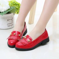 For Girls Dress Shoes Children Students Leather Shoes Kids P