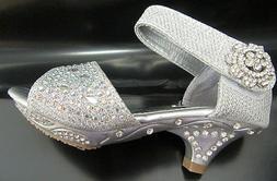 Lucita Girls Dress Shoes JNA-14KS Rhinestone Heel Sandals Si