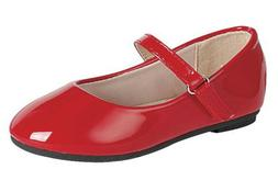 girls shiny red dress shoes flats christmas
