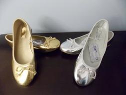 Cherokee Girls Sz. 3,4,5 Silver or Gold Metallic Dress Slip