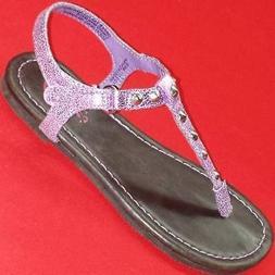 Girls Toddler CANDIES LIL KHLOE Purple Casual Dress Thongs