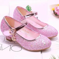 Glitter Girls Sandals Heel Sandals Shoes For Party Wedding D