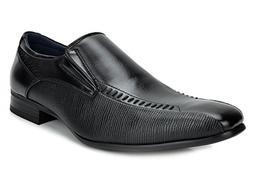Bruno Marc Men's Gordon-02 Black Leather Lined Dress Loafers