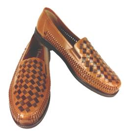 DEER STAGS Haband Men's Brown Woven Slip On Casual Loafer Sh