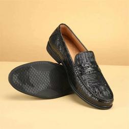 Handmade Men black Real Crocodile leather business shoes Men