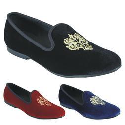Handmade Men Velvet Slippers Loafers Slip On Dress Shoes Smo