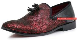 Enzo Romeo Harell05 Men'S Vintage Velvet Dress Shoes Classic