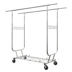 LANGRIA Heavy Duty Rolling Commercial Double Rail Clothing G