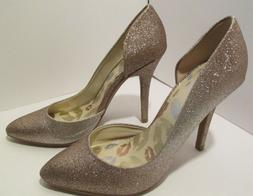 Juicy Couture Heels Cyra Glitter Gold Ladies size 7 Fashion