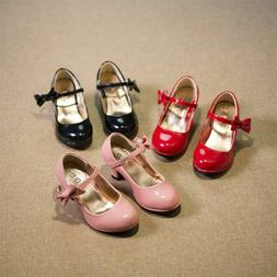 High Heeled Kids Girl Dress Shoes Party Wedding Girls Shoes