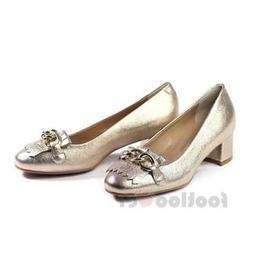 Igi&Co 1164422 Womens Shoes Gold Platinum Heels Made in Ital