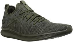 PUMA Men's Ignite Flash Evoknit Sneaker, Forest Night-Castor