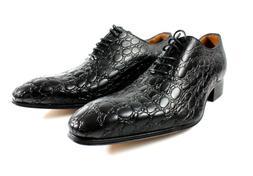 IVAN TROY Black Handmade Italian Leather Dress Shoes/Oxford
