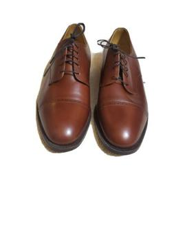 Johnston & Murphy Mens 11 D Brown Leather Lace Up Oxford Dre