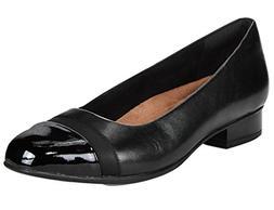 Clarks Women's Keesha Rosa Flat, Black Leather, 6.5 M US