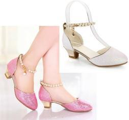 Kid Girls Dress Shoes Little High Heel Glitter For Toddler P