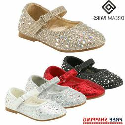 DREAM PAIRS Kids Girls Toddlers Infant Mary Jane Flats Shoes