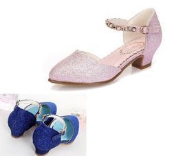 Kids Sandals For Girls Dress Shoes Little High Heel Glitter