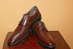 L@@K...Stacy Adams Men's Sanfillipo 24938 Cognac Woven Size