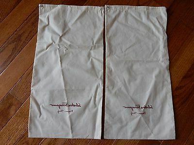 "2 Ferragamo Dust Bag Dress Shoes Travel 16.5x8"""