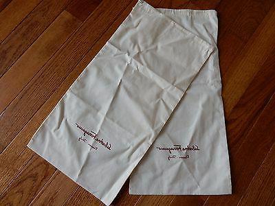 "2 X Ferragamo Dust Bag For Dress Travel 16.5x8"""