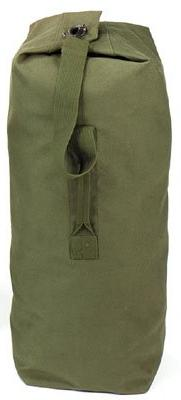 """Rothco Top Load Canvas Duffle, 30"""" x 50"""", Olive Drab"""