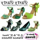 "~50 SHADES of GREEN 2.5 & 3 ""Heel Dance Dress Shoes Collecti"