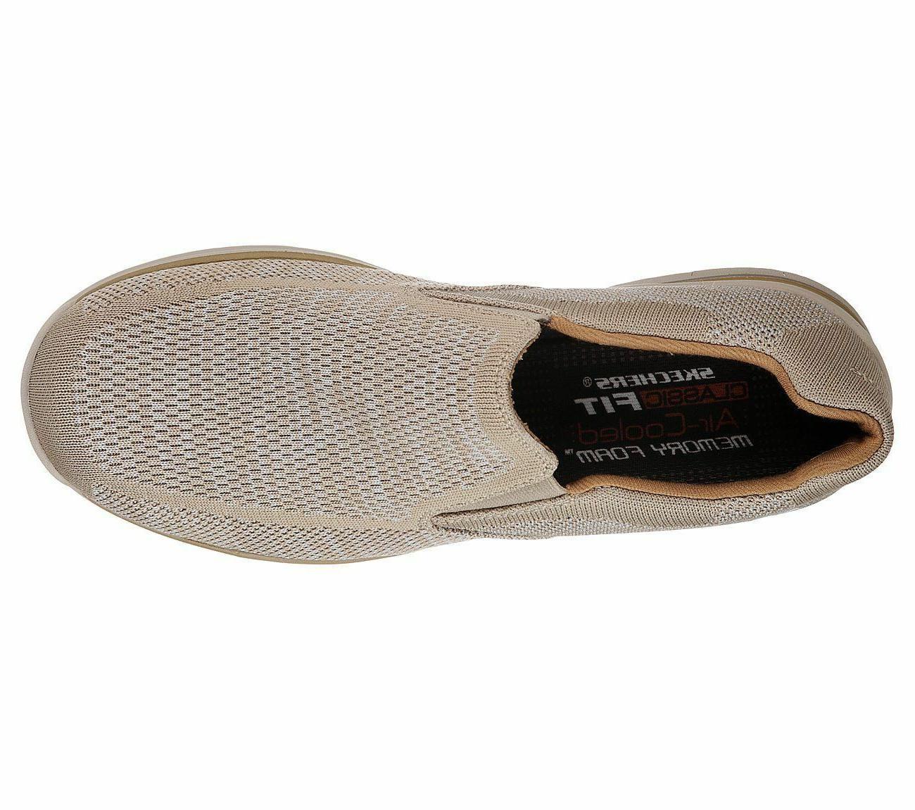 Denim Skechers Men Memory Casual Loafer Slip On