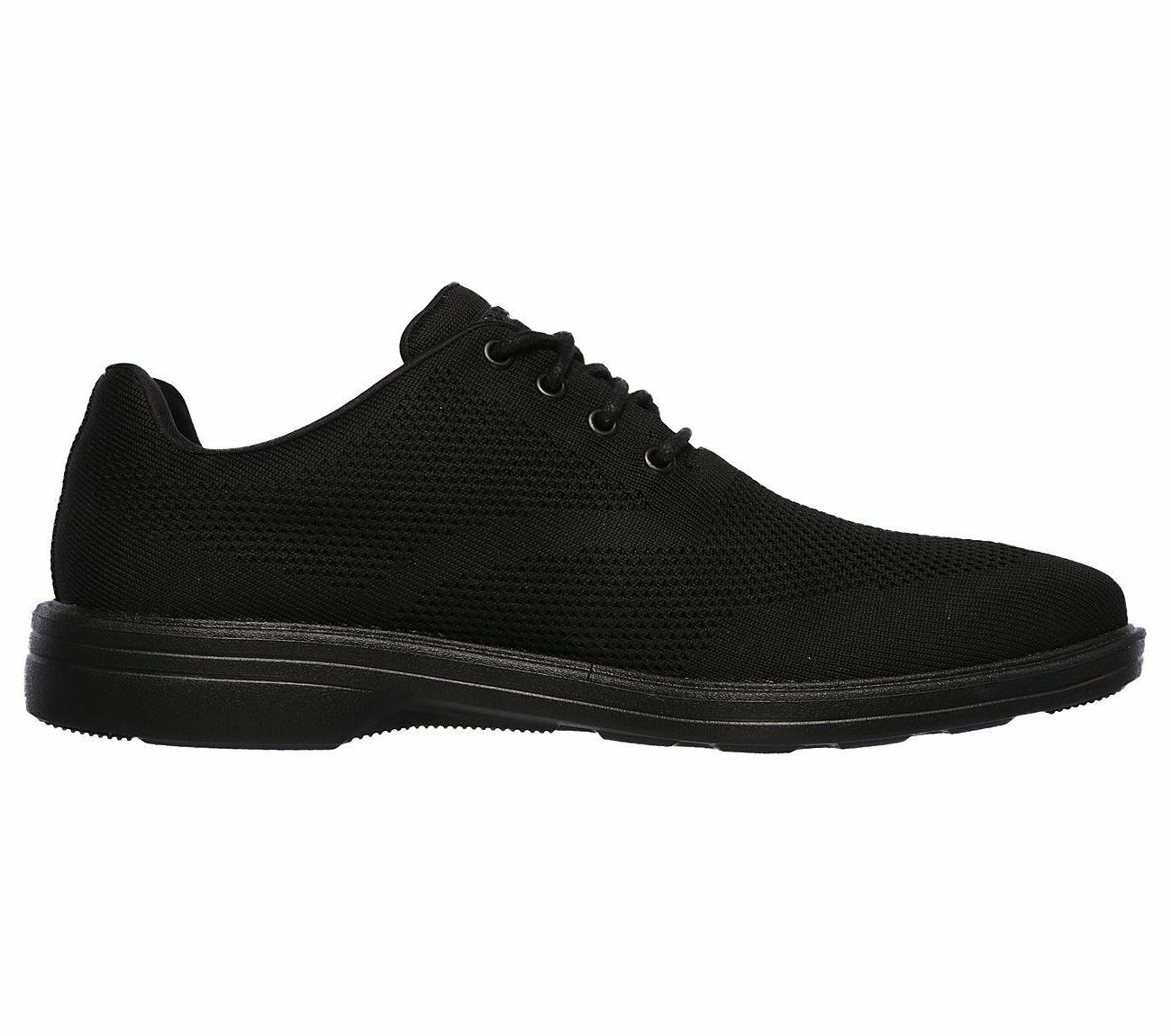 65293 Black Skechers shoes Men's Memory Comfort Dress Casual