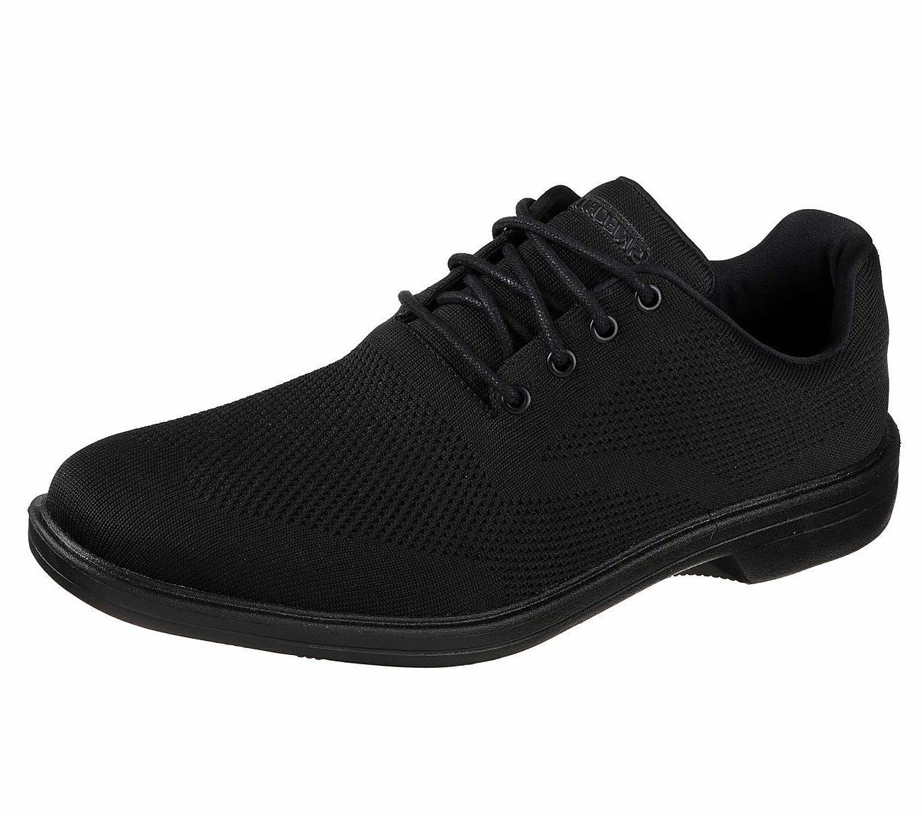 65293 extra wide fit black shoes men