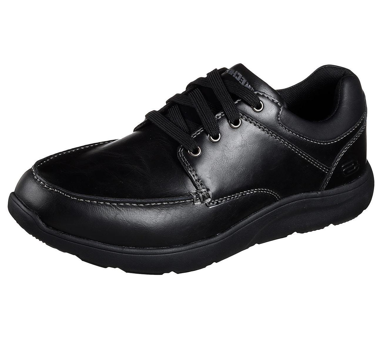 65325 black shoes men memory foam sport